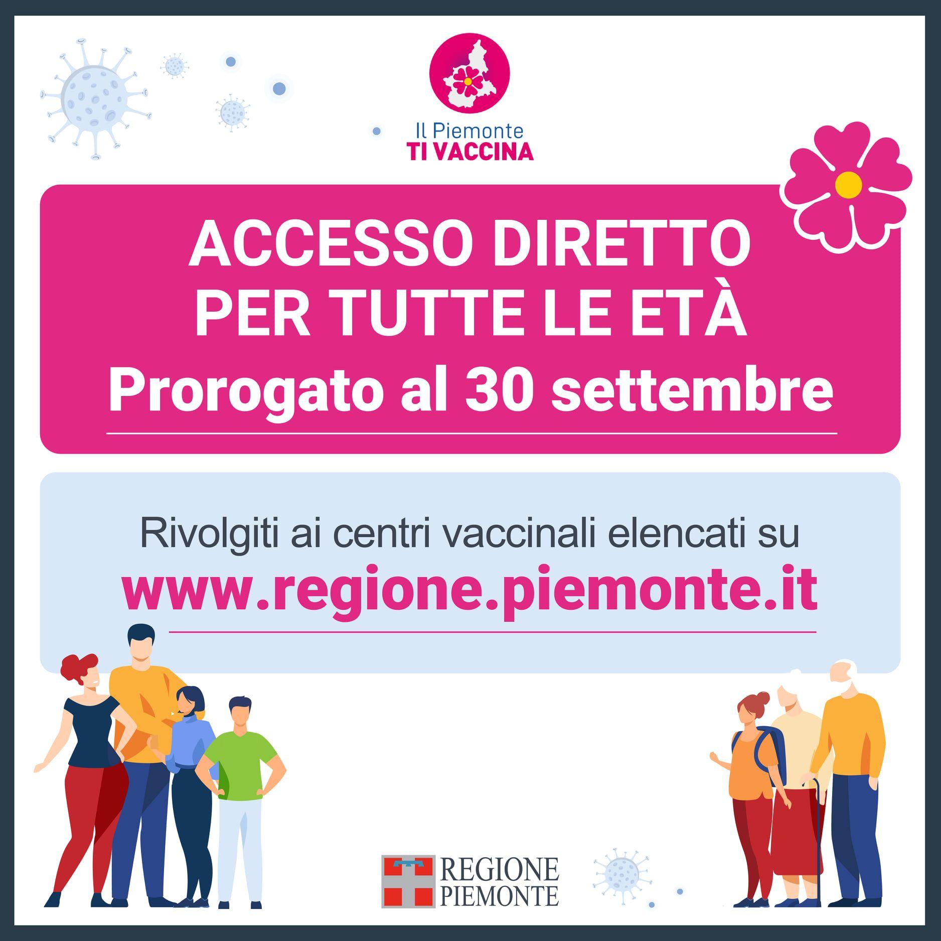 COVID - Posticipati al 30 settembre gli accessi diretti per la vaccinazione nella nostra zona