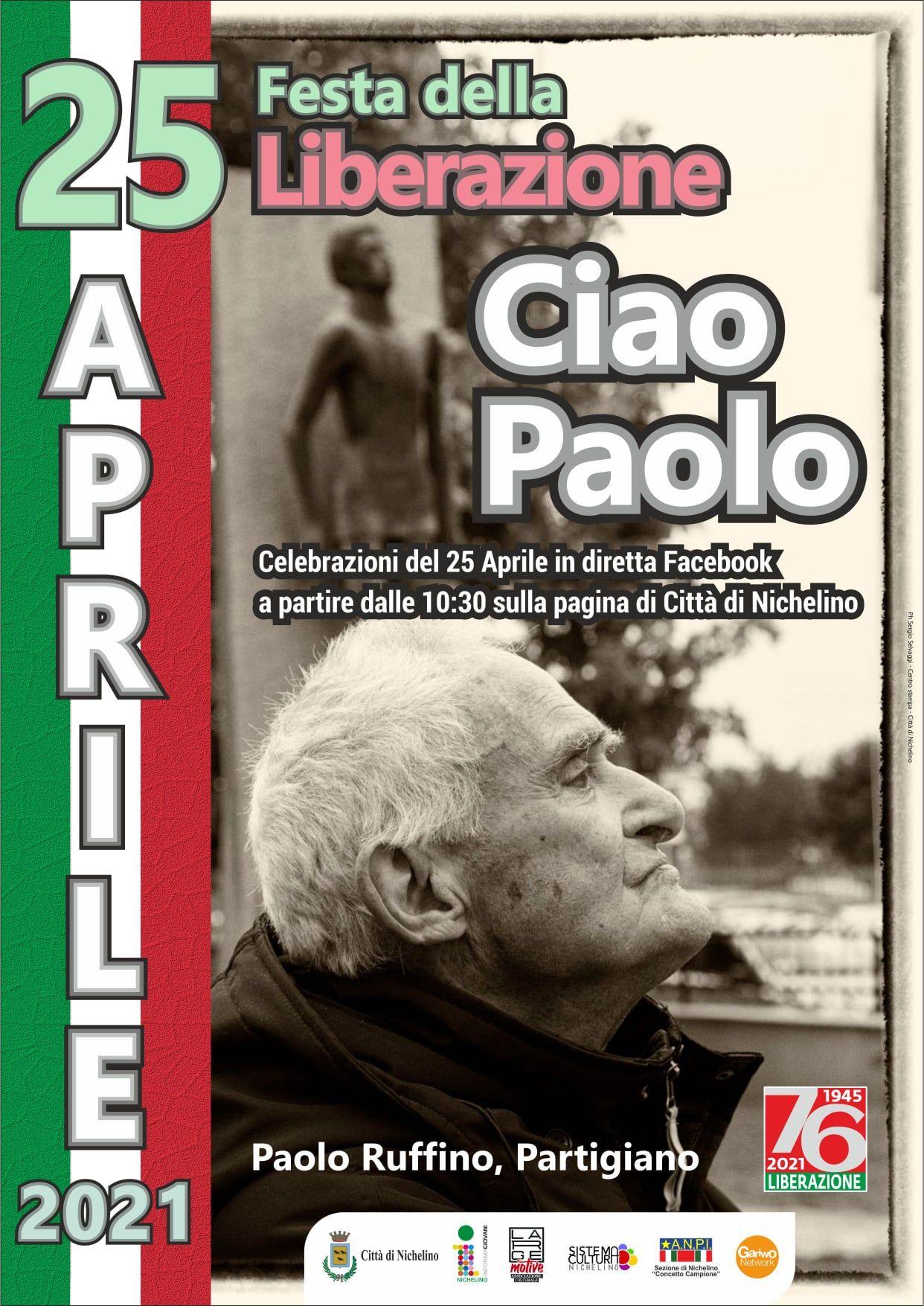 NICHELINO - La città dedica il 25 aprile all'ex partigiano nichelinese Paolo Ruffino