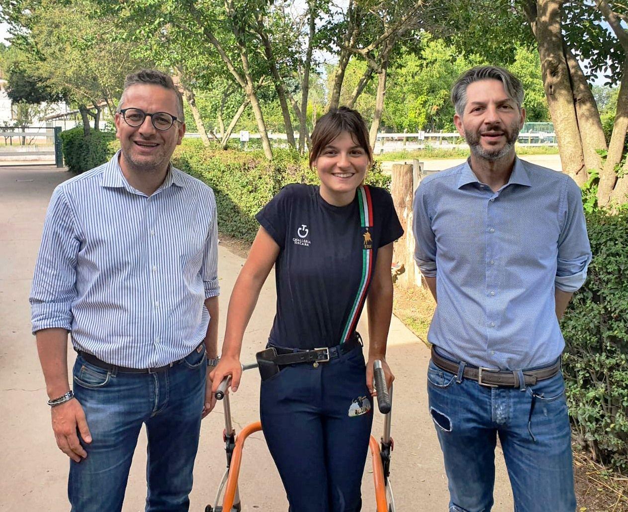 RIVALTA - In bocca al lupo a Carola Semperboni che dal 24 agosto sarà ai Giochi Paralimpici di Tokyo