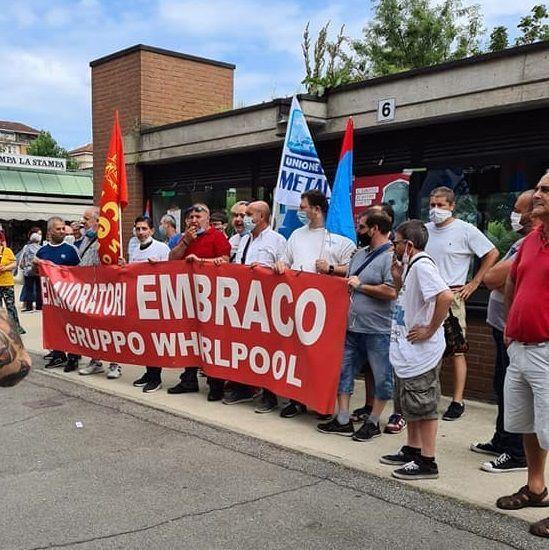 EX EMBRACO - Ritirati i licenziamenti dei quasi 400 lavoratori e prorogata la Cig