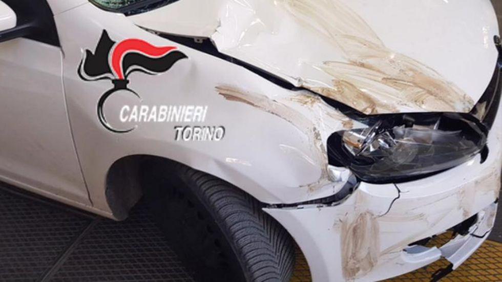 ORBASSANO-STUPINIGI - Il pirata della strada ai carabinieri: «Dopo l'incidente sono scappato per paura» - FOTO