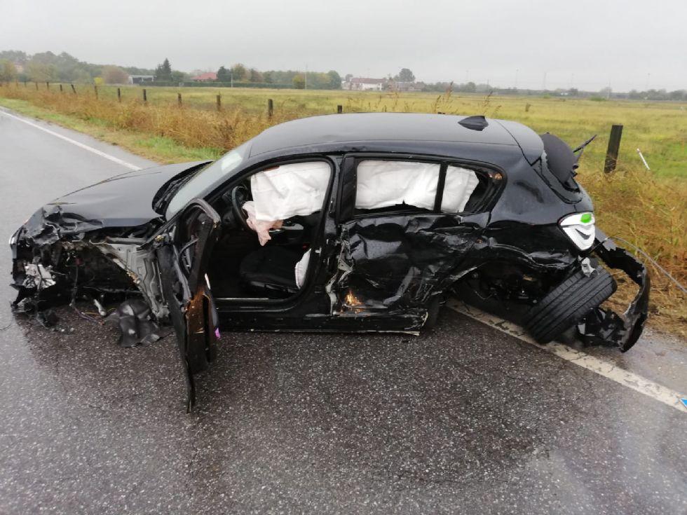 PIOSSASCO - Brutto incidente sulla provinciale 6: due feriti in ospedale