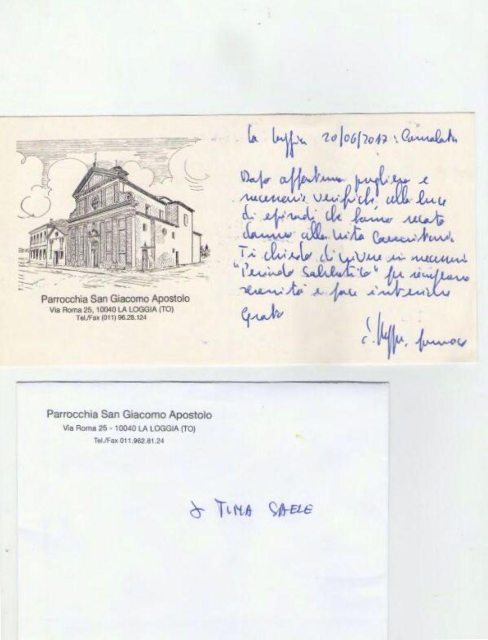 LA LOGGIA - Allontanata dalla parrocchia la catechista madre del candidato sindaco Catalano: «Decisione politica»