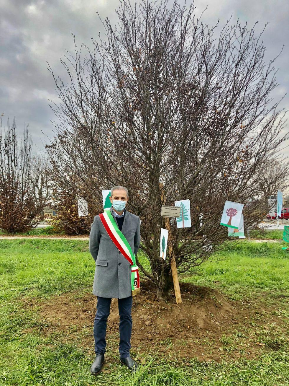VINOVO - Un albero per simboleggiare il ricordo delle vittime da coronavirus
