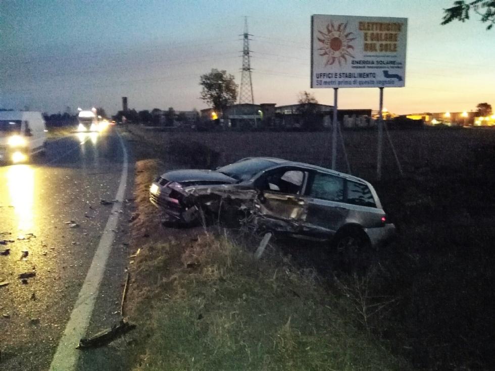 CARIGNANO - Incidente sulla provinciale per Saluzzo, quattro auto coinvolte