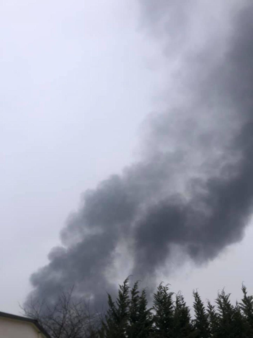RIVALTA - Incendio nella mattinata all'interno dello stabilimento ex Fiat