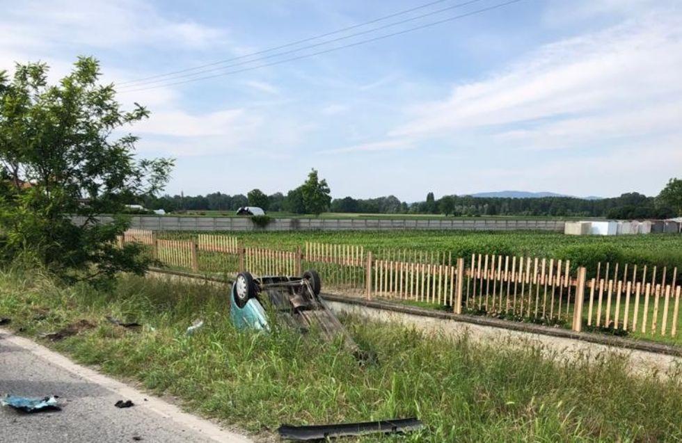 CARMAGNOLA - Brutto incidente lungo la provinciale 20: tre feriti