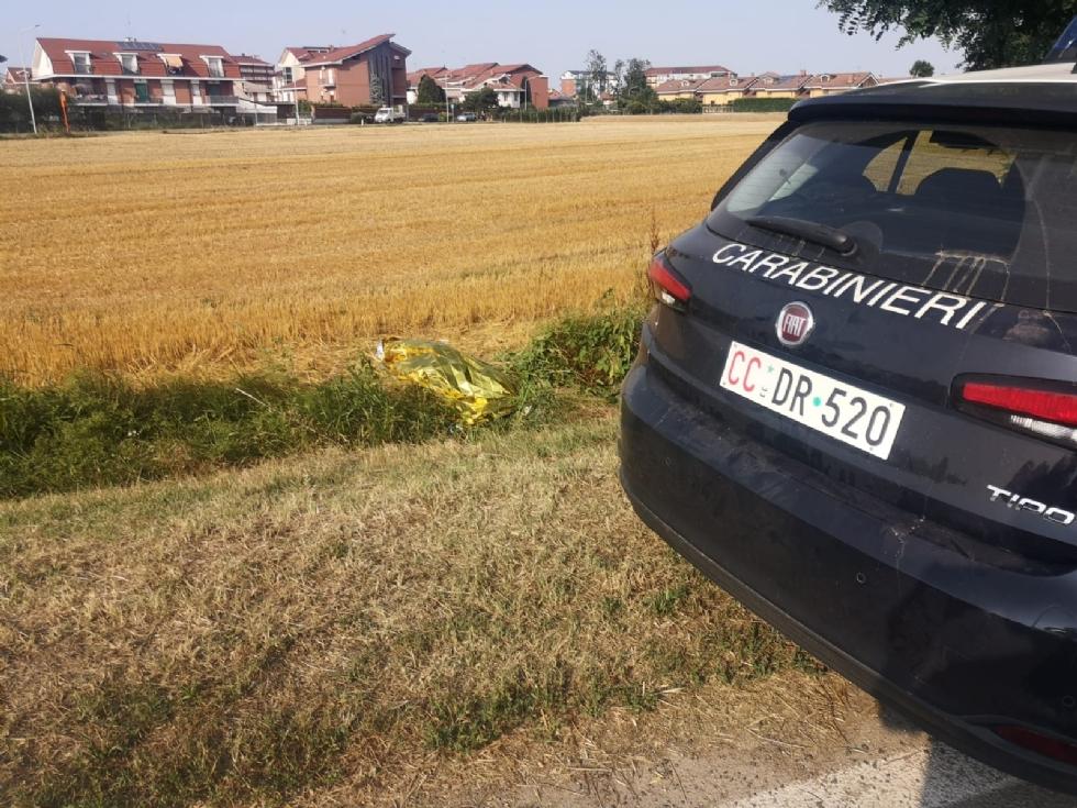 VINOVO - Tragedia in via Tetti Berta: muore un uomo di 53 anni in bici