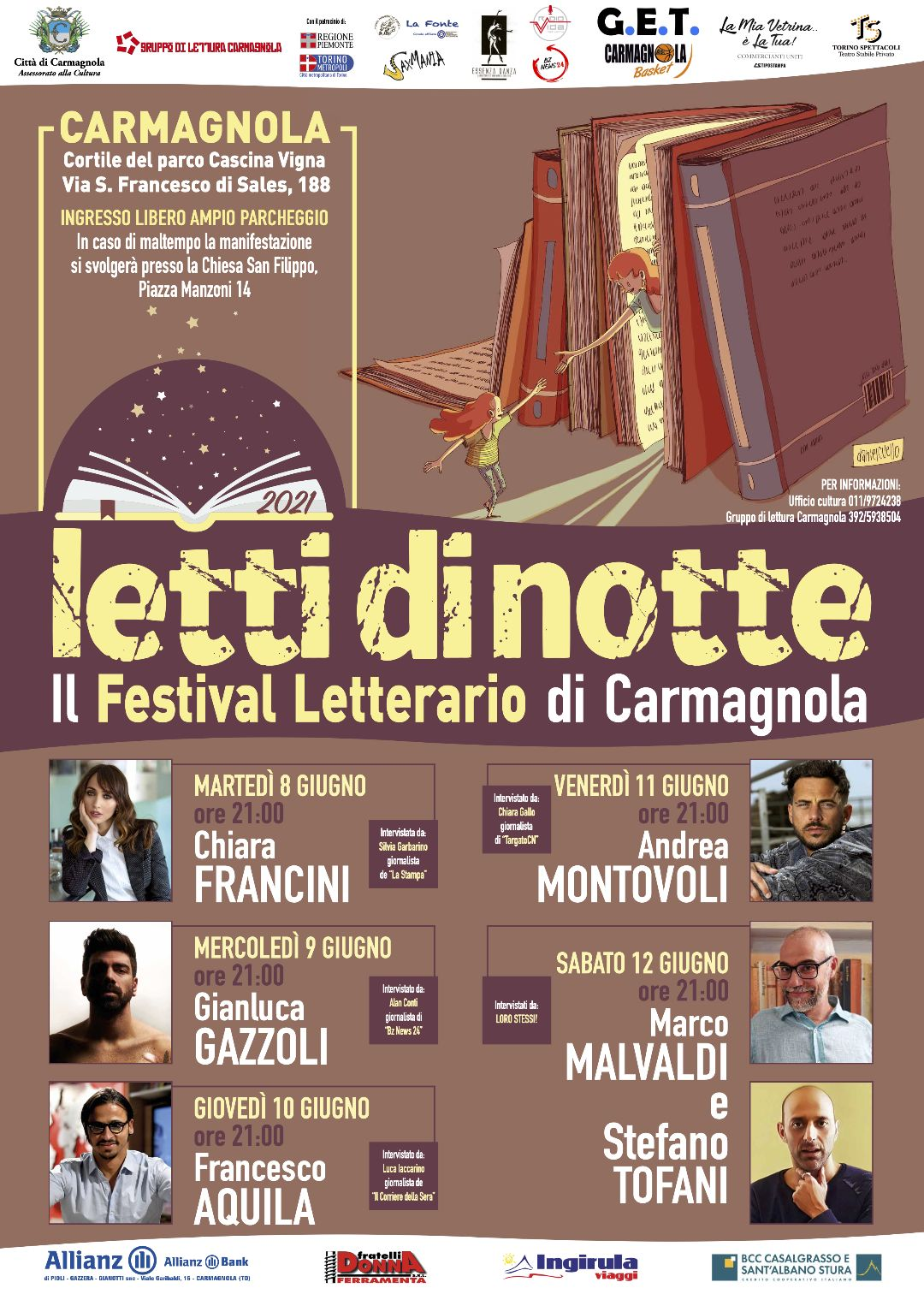 """CARMAGNOLA - Torna il festival """"Letti di Notte"""""""