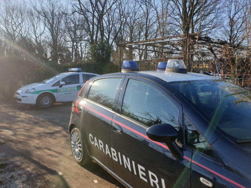 BEINASCO - Blitz dei carabinieri nel nuovo campo rom abusivo di Borgaretto
