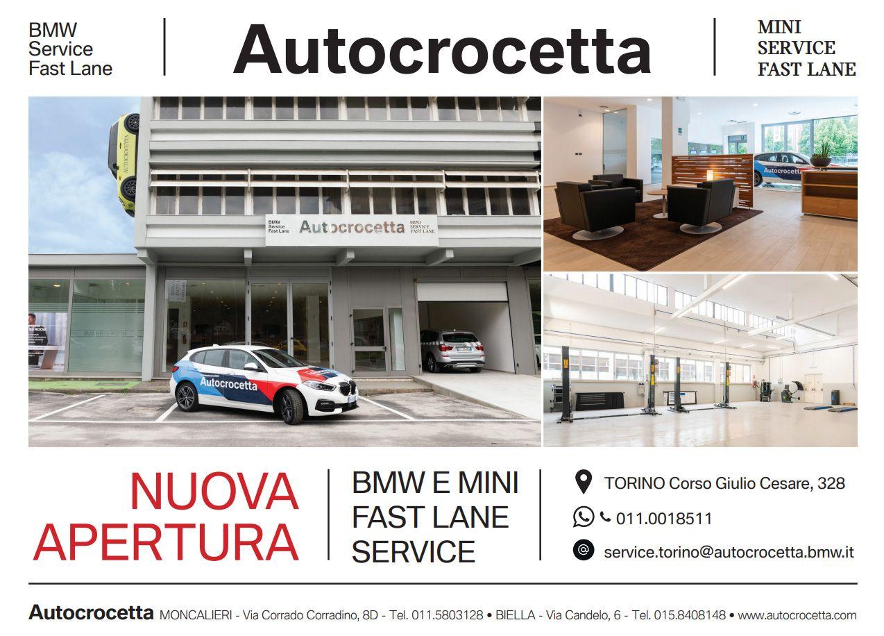 Autocrocetta apre in corso Giulio Cesare a Torino il «BMW E MINI FAST LANE»