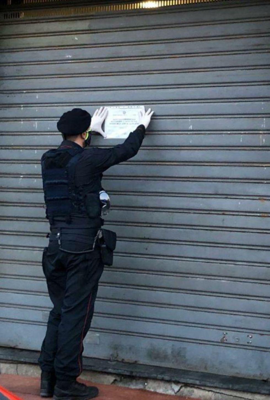 MONCALIERI - Panetteria non rispettava le misure anti covid, I carabinieri la chiudono per 5 giorni